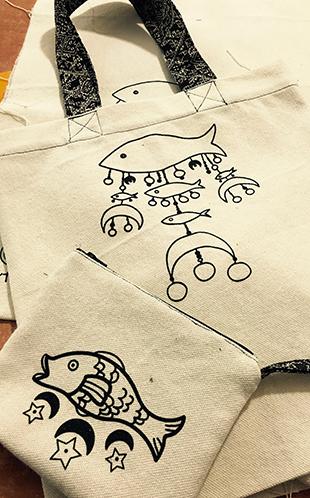 création sac tissu sérigraphié